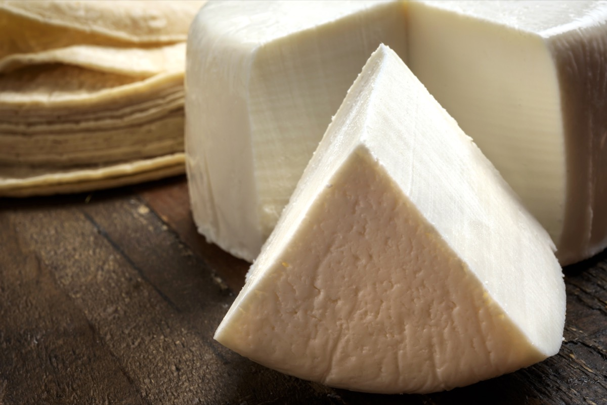 Mexican Queso Fresco and Tortillas Close up