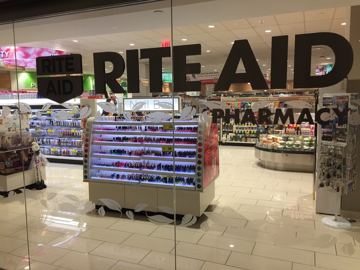 glass doors leading into rite aid pharmacy