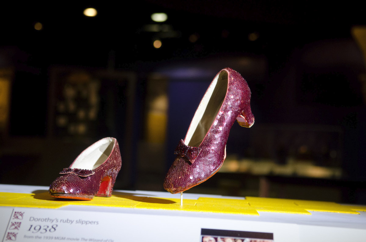 """Ruby slippers from """"The Wizard of Oz"""" on display at the Smithsonian National Museum of American History"""