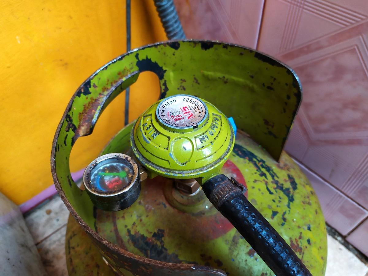 rusty petroleum tank