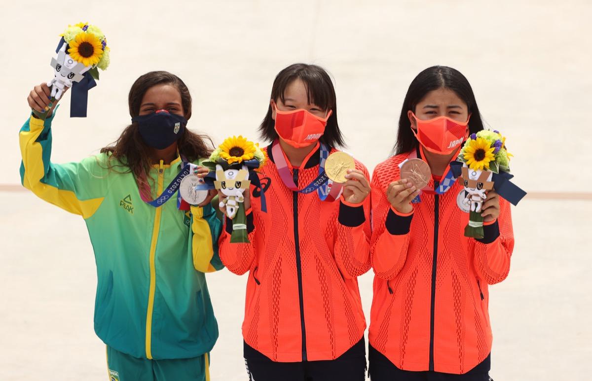 Rayssa Leal, Momiji Nishiya, and Funa Nakayama