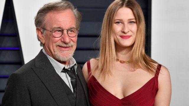 Steven Spielberg and Destry Allyn Spielberg at the 2019 Vanity Fair Oscar Party