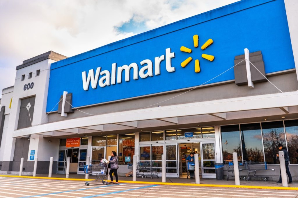Jan 9, 2020 Mountain View / CA/ USA - People shopping at a Walmart store in south San Francisco bay area