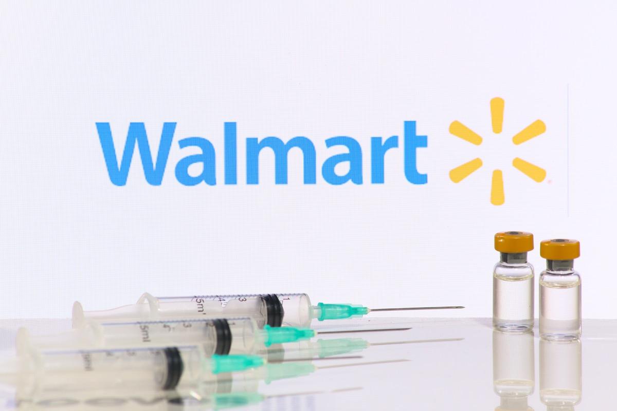 New York, United States- 09 02 2021: Walmart Pharmacies begins administering Covid-19 Vaccines.