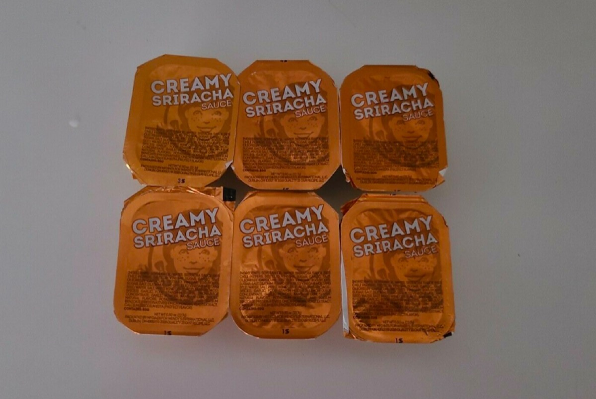 Wendy's sriracha sauce being sold on eBay