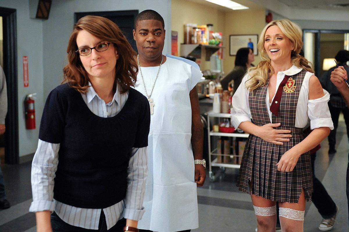 Tina Fey, Tracy Morgan, and Jane Krakowski in 30 Rock