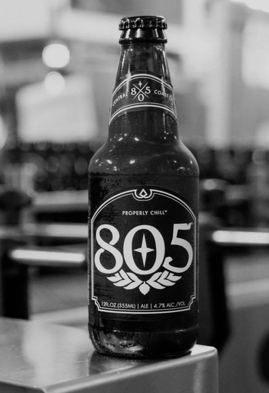 805 beer bottle