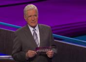 """Alex Trebek hosting """"Jeopardy!"""" in November 2019"""