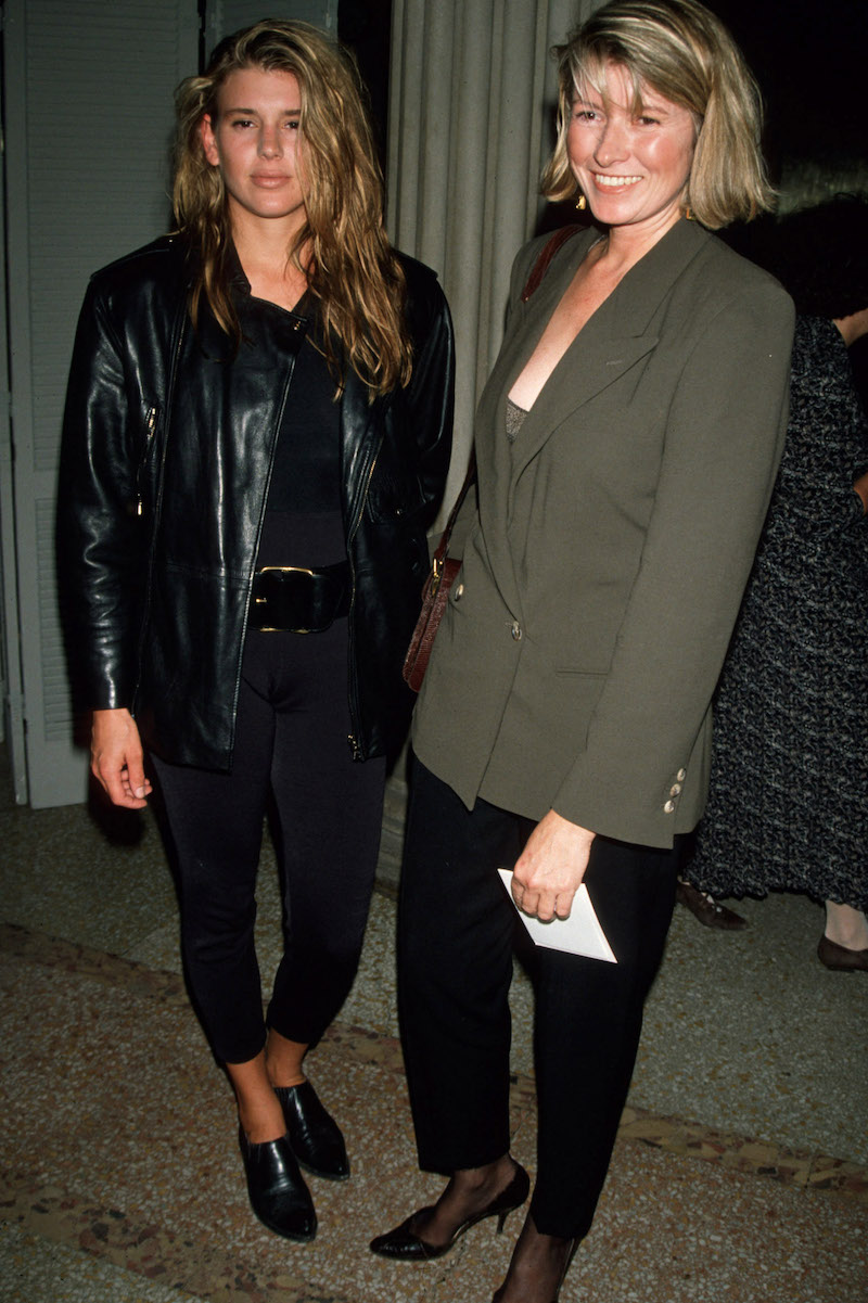 """Alexis and Martha Stewart at the 1990 premiere of """"Avalon"""""""