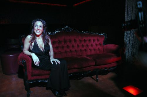 Amy Fisher at Retox club in Manhattan, New York in 2008