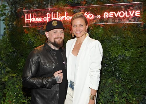 Benji Madden and Cameron Diaz at a Revolve event in 2016