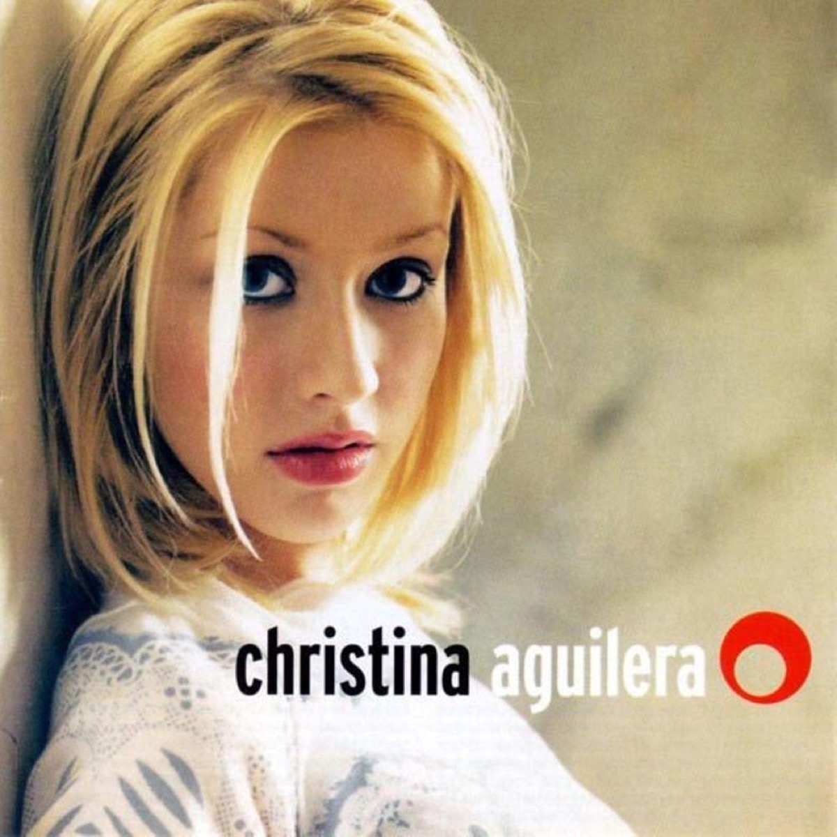 Christina Aguilera self-titled album cover