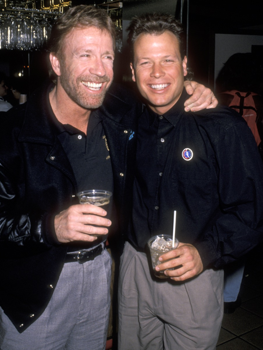 Chuck Norris and son Eric Norris