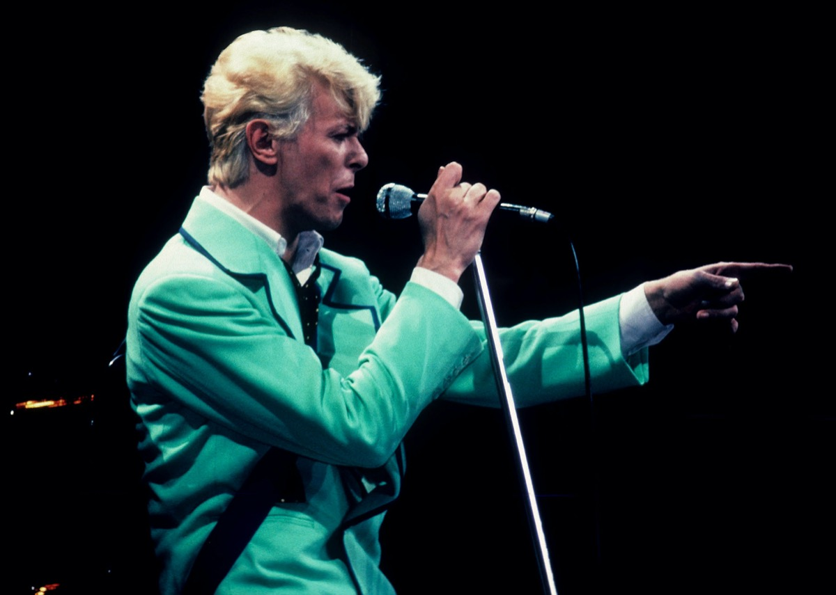 David Bowie performing in 1983