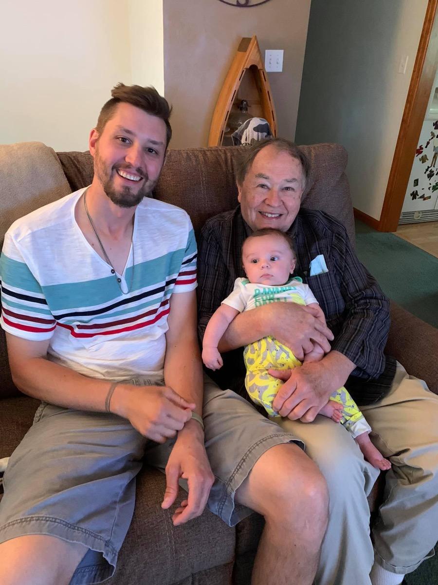 Alex Newell, David Newell, and Alex's son Ashton