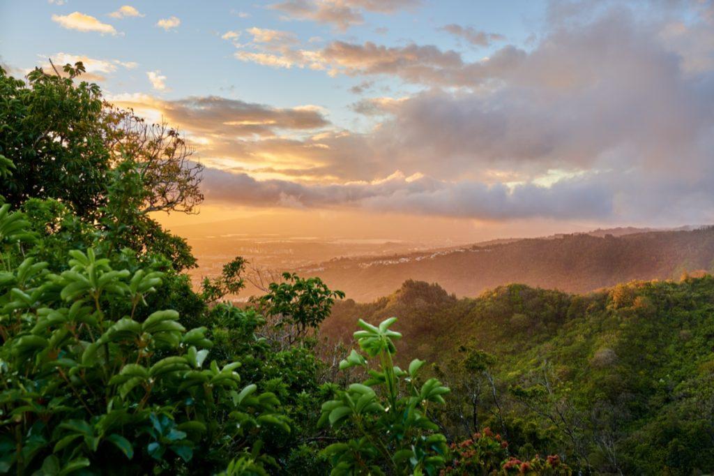 East Honolulu, Hawaii at sunset