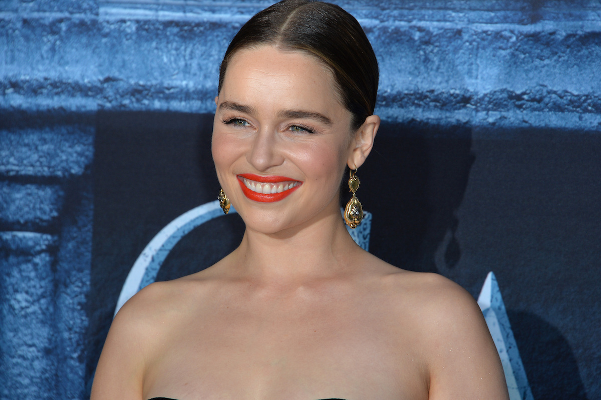 """Emilia Clarke at the season 6 premiere of """"Game of Thrones"""" in 2016"""
