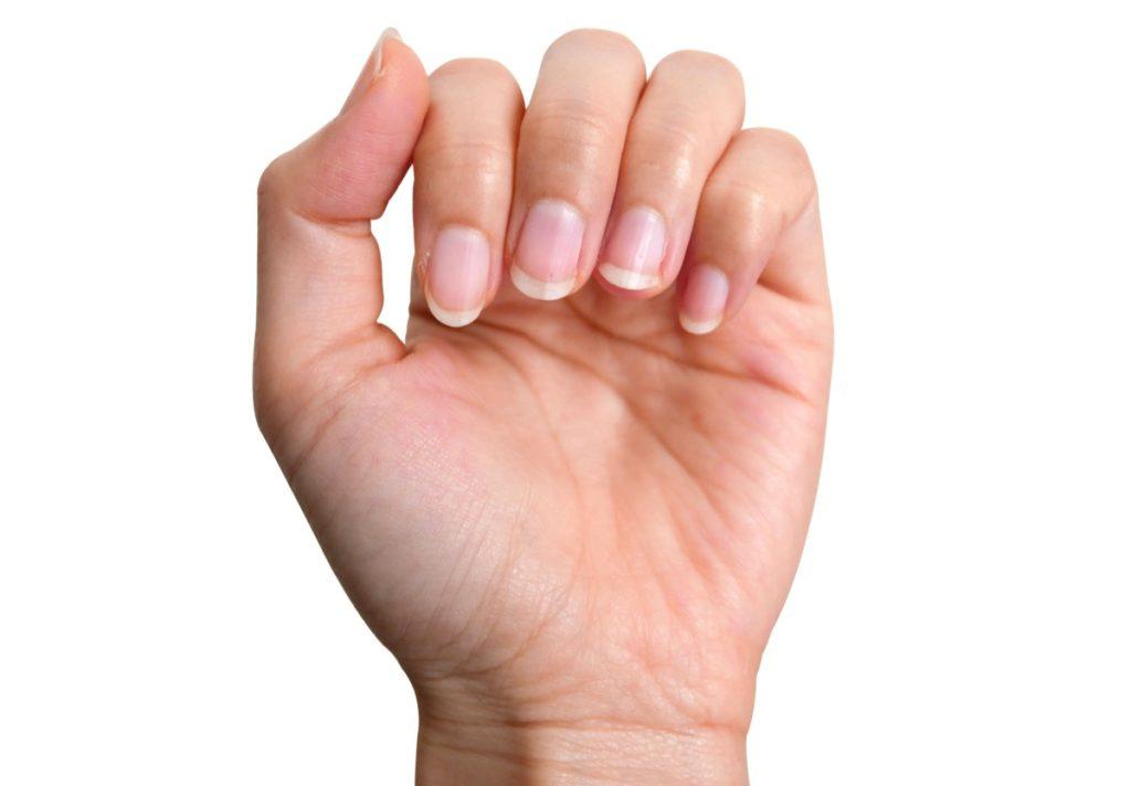 Pale Fingernails
