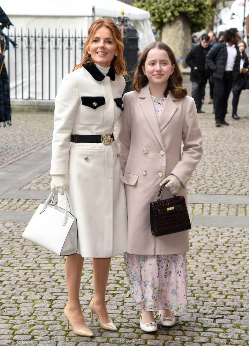 Geri Halliwell and daughter Bluebell at Commonwealth Day Service at Westminster Abbey in March 2020