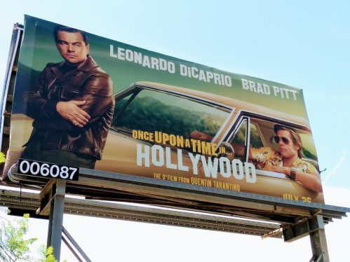 """A billboard for """"Once Upon a Time in Hollywood"""" in Los Angeles in 2019"""