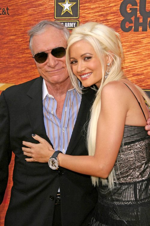 Hugh Hefner and Holly Madison at Spike TV's 2nd Annual Guys Choice Awards in 2008