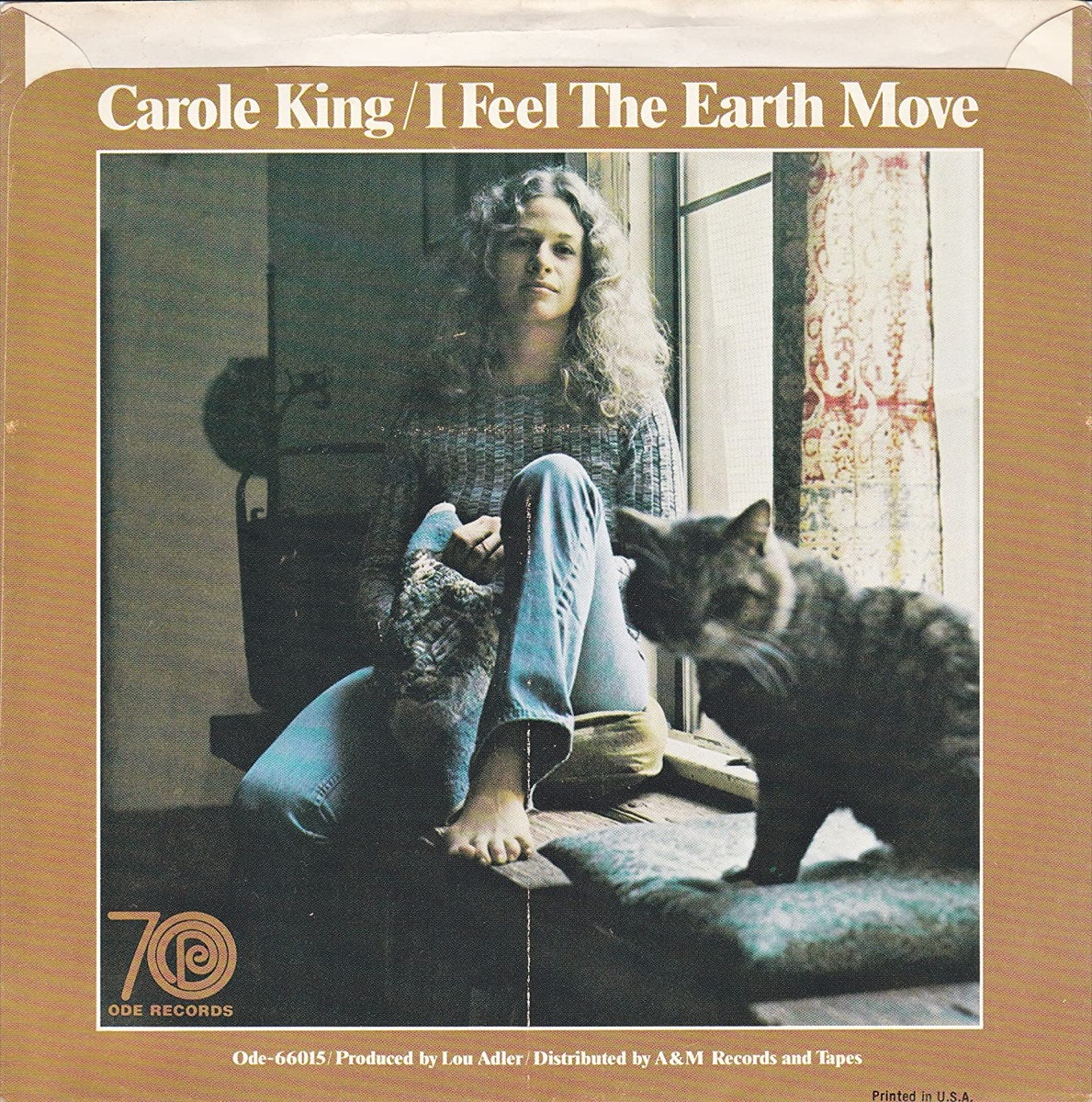 """Carole King """"I Feel the Earth Move"""" Single cover"""