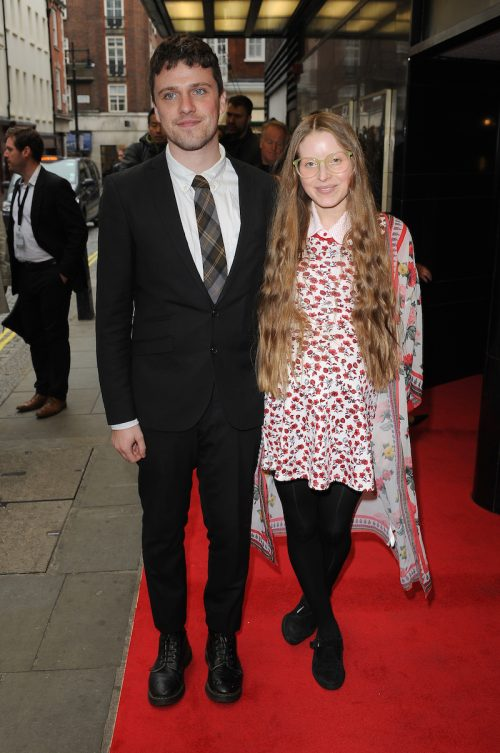 """Jessie Cave and Alfie Brown at the premiere of """"Tale of Tales"""" in 2016"""