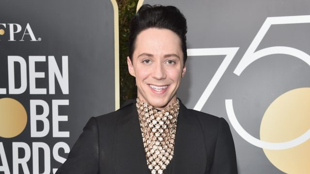 Johnny Weir at the 2018 Golden Globe Awards