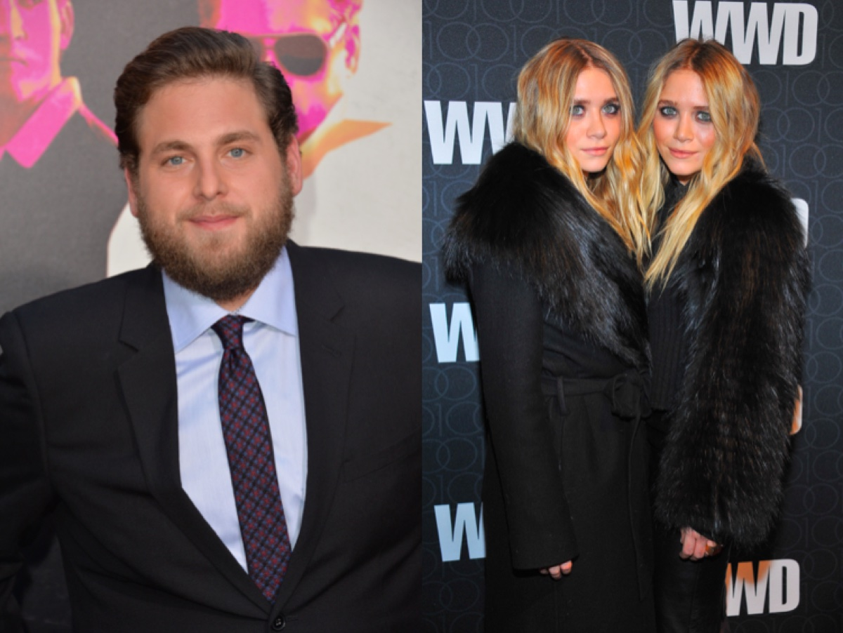 Jonah Hill and Mary-Kate and Ashley Olsen