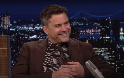 "Joshua Jackson on ""The Tonight Show"" in July 2021"