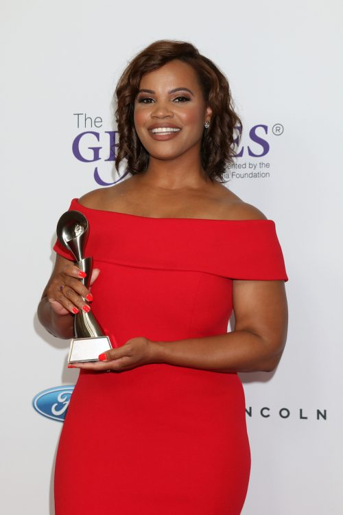 Laura Coates at the Gracies Awards in 2019