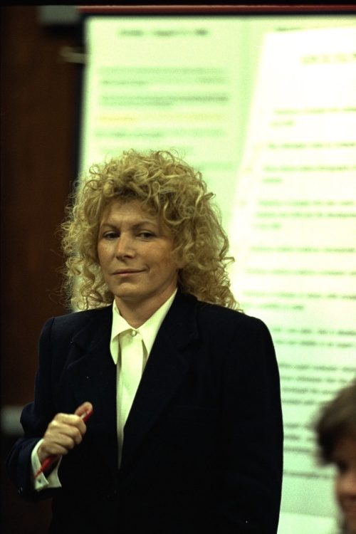 Leslie Abramson during the Menendez brothers trial in 1996
