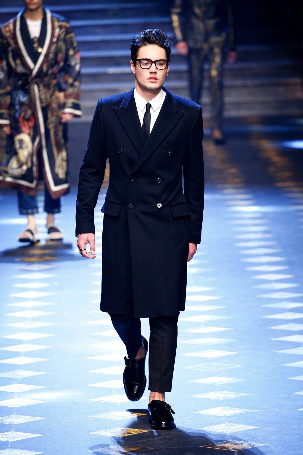 Levi Dylan walking runway for Dolce & Gabbana