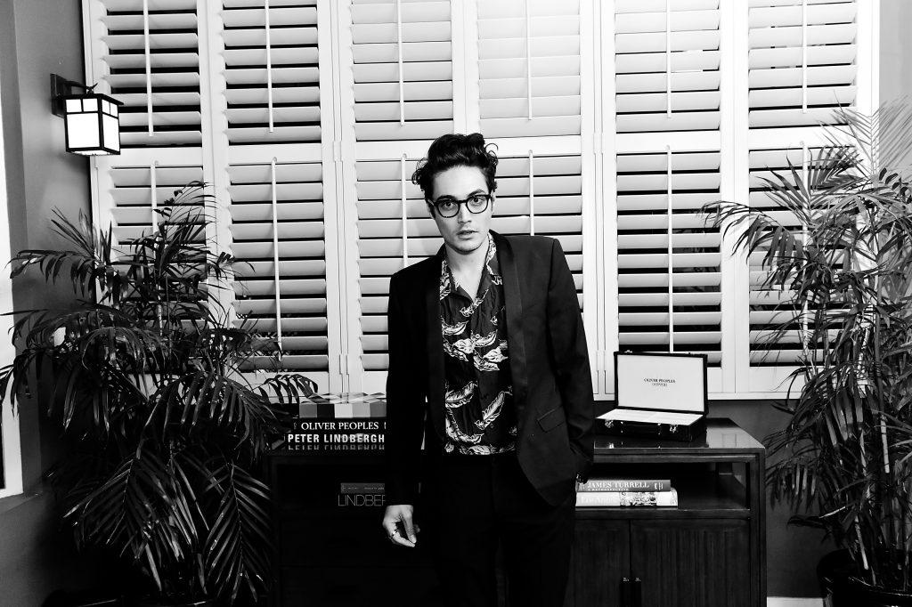 Levi Dylan black and white portrait