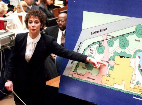 Marcia Clark during O.J. Simpson's trial in 1995