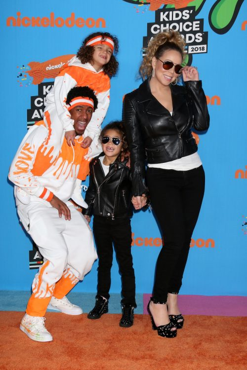 Mariah Carey, Nick Cannon, and their children at the 2018 Kid's Choice Awards