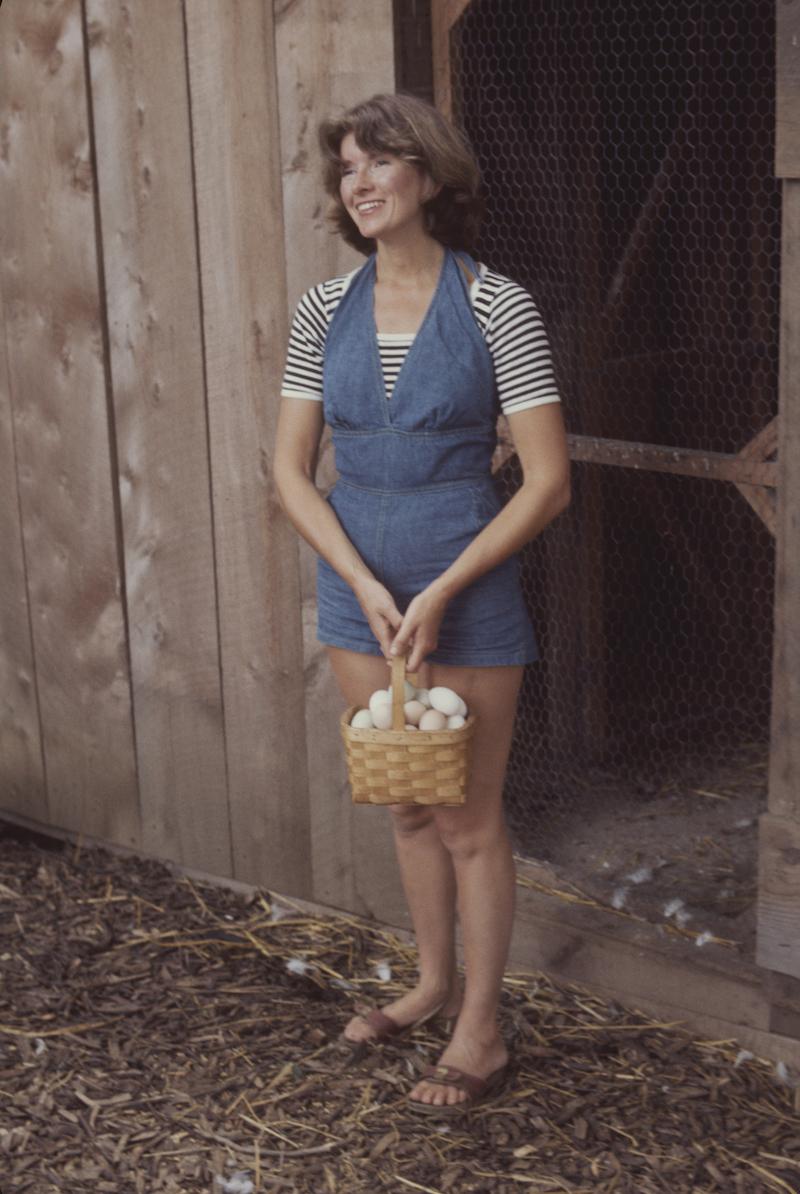 Martha Stewart at her home in 1976