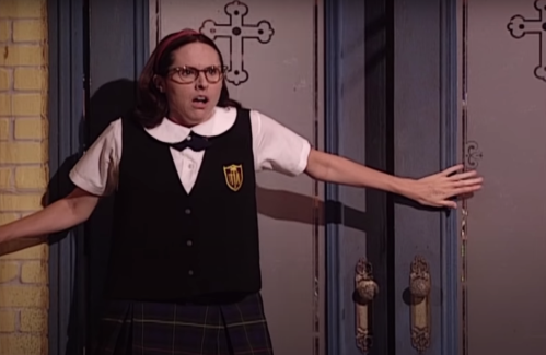 """Molly Shannon as Mary Katherine Gallagher on """"Saturday Night Live"""""""