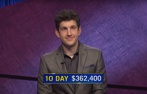 """Matt Amodio after his tenth win on """"Jeopardy!"""""""