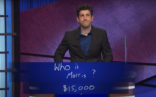 Matt Amodio during Final Jeopardy on August 2, 2021