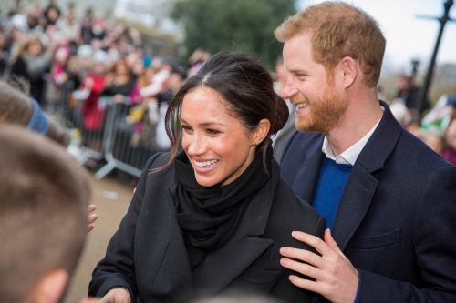 Meghan Markle and Prince Harry in Cardiff, Wales in 2018