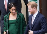 Meghan Markle and Prince Harry leaving Canada House in London in 2019