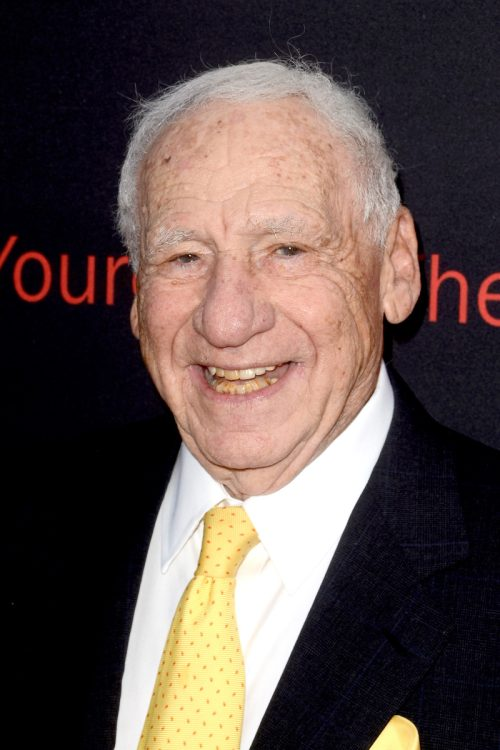 """Mel Brooks at the premiere of """"If You're Not in the Obit, Eat Breakfast"""" in 2017"""