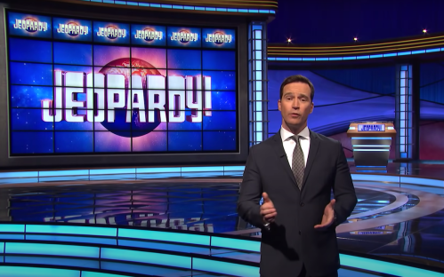 """Mike Richards in a """"Jeopardy!"""" clip about Alex Trebek from November 2020"""