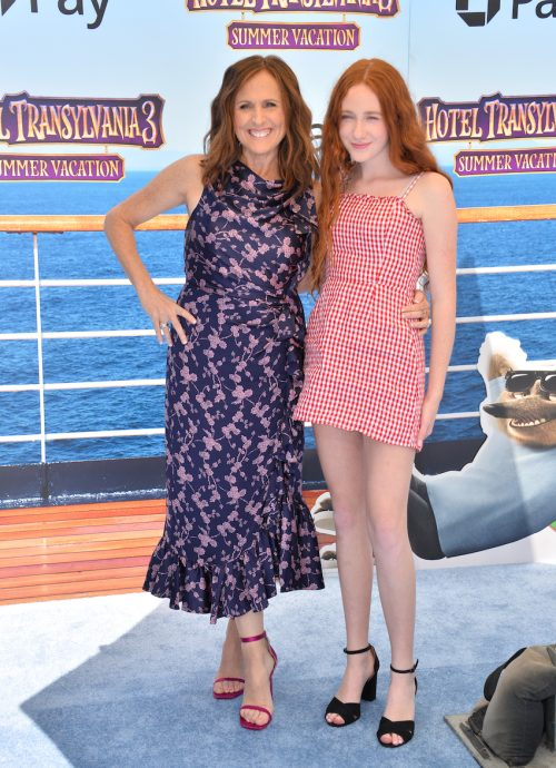 """Molly Shannon and daughter Stella at the premiere of """"Hotel Transylvania 3"""" in 2018"""