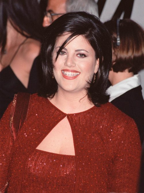 Monica Lewinsky at PETA's Party of the Century in 1999