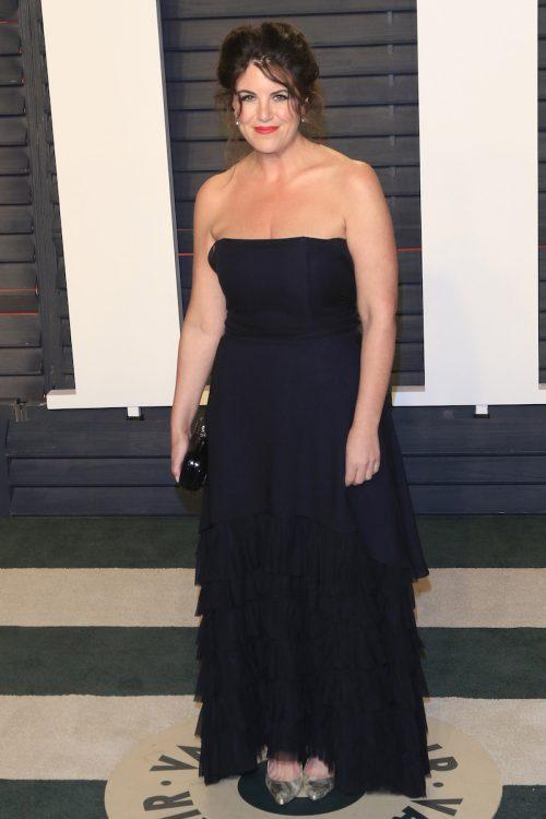 Monica Lewinsky at the 2016 Vanity Fair Oscar Party