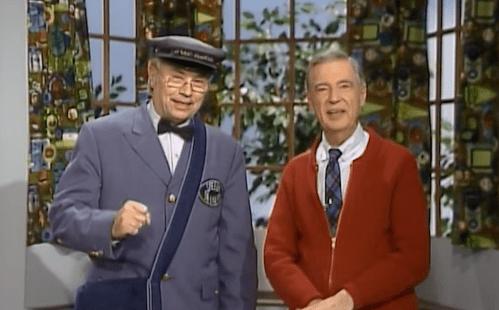 "Mr. McFeely and Mr. Rogers on ""Mister Rogers Neighborhood"""