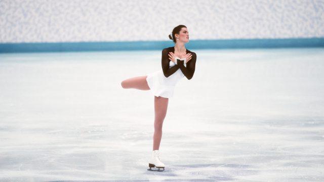 Nancy Kerrigan competing in 1994 olympics