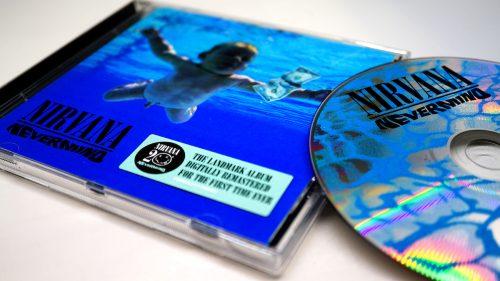 "A photo of a Nirvana ""Nevermind"" CD"